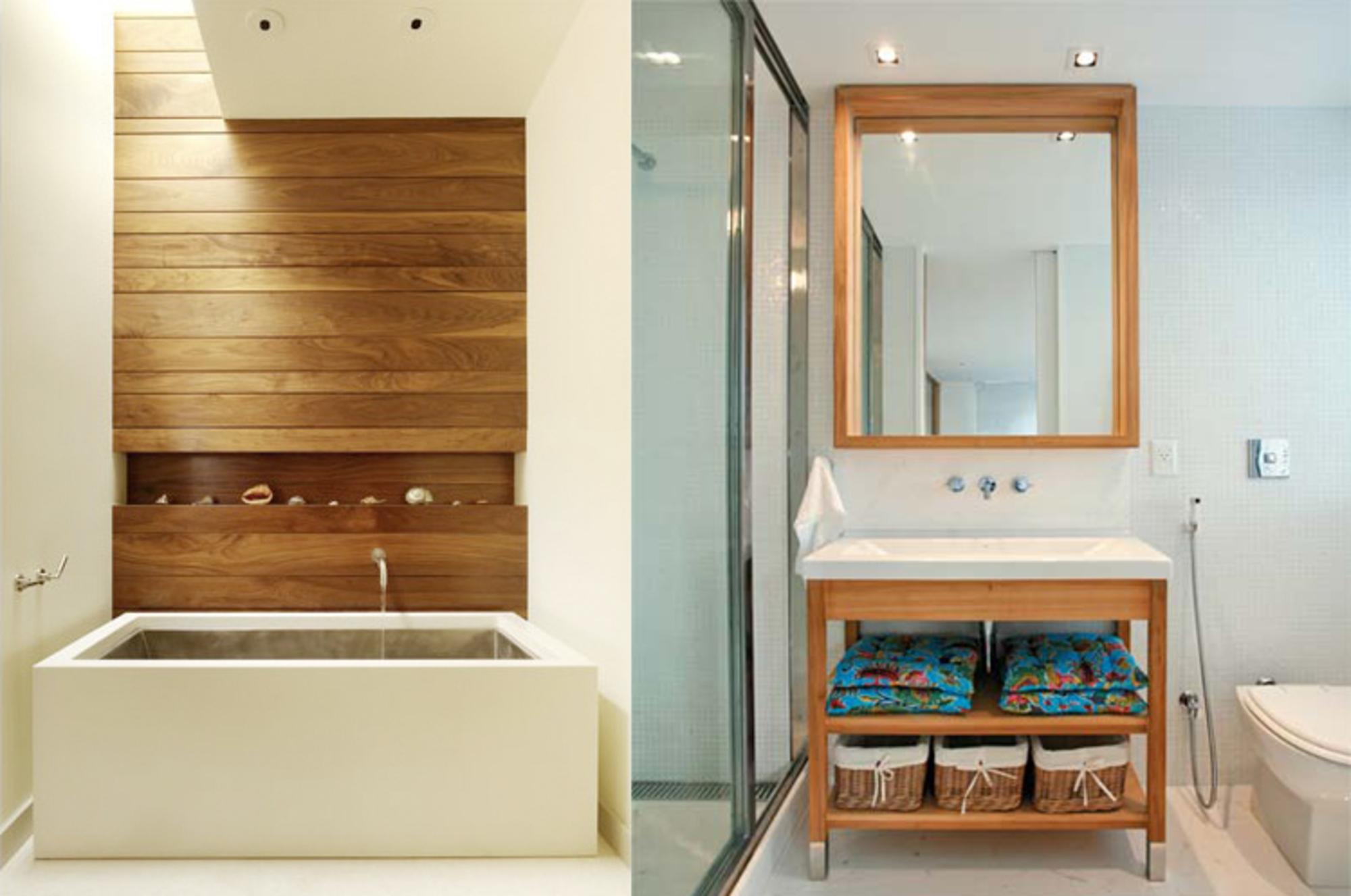 DECORAÇAO DE BANHEIROS COM MADEIRA Casa de Valentina #764720 2000x1327 Banheiro Apartamento Decoração