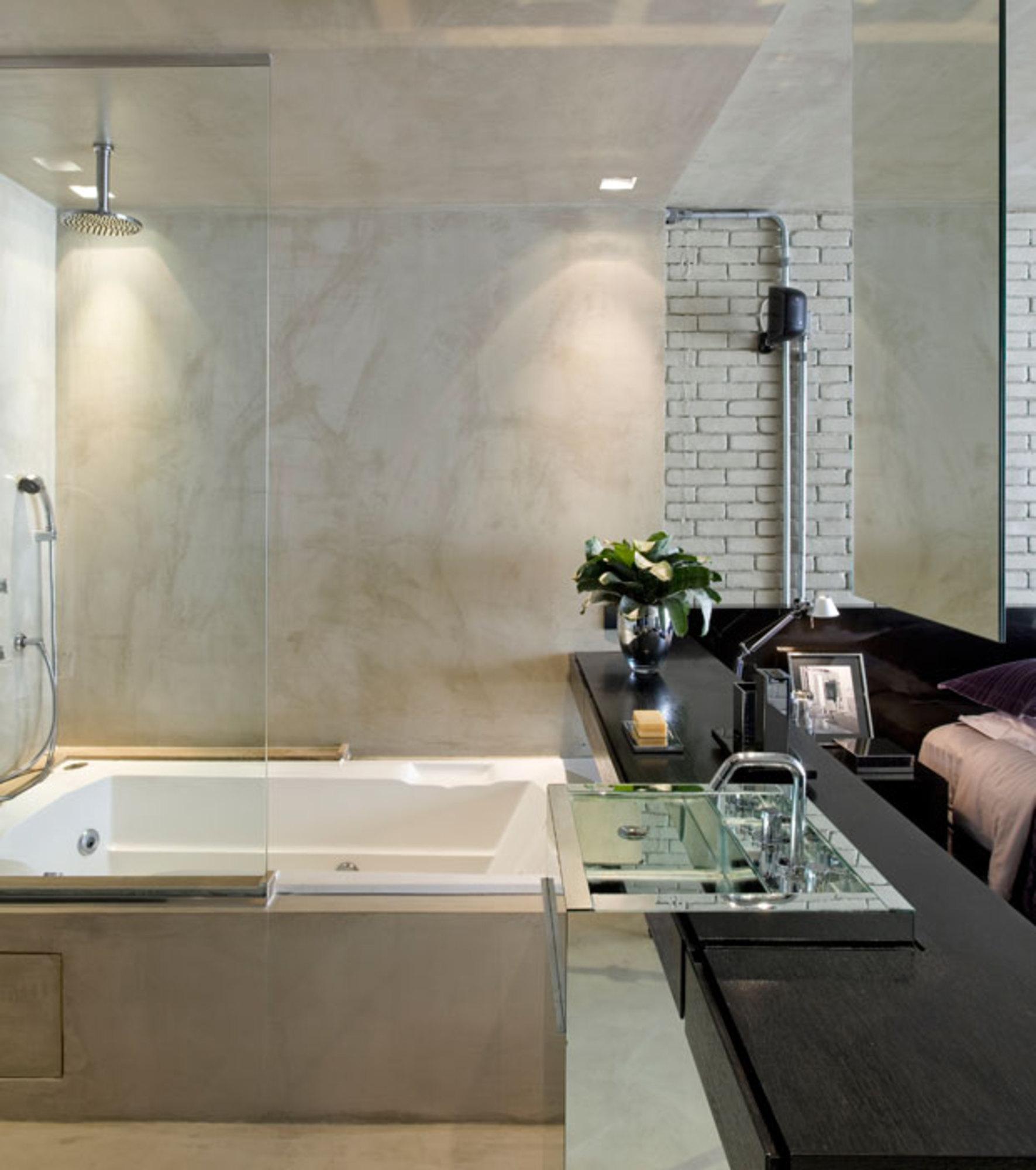 LOFT CONTEMPORÂNEO E MASCULINO Casa de Valentina #60513C 1771x2000 Banheiro Com Cimento Queimado