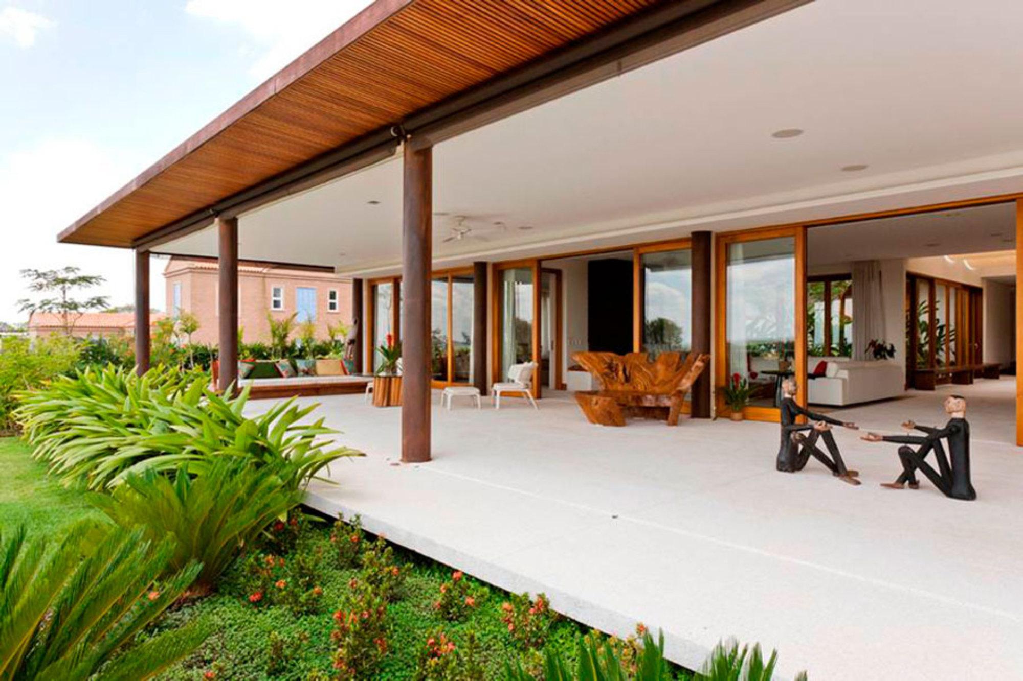 Equil brio entre moderno e r stico casa de valentina for Casa estilo campo moderno