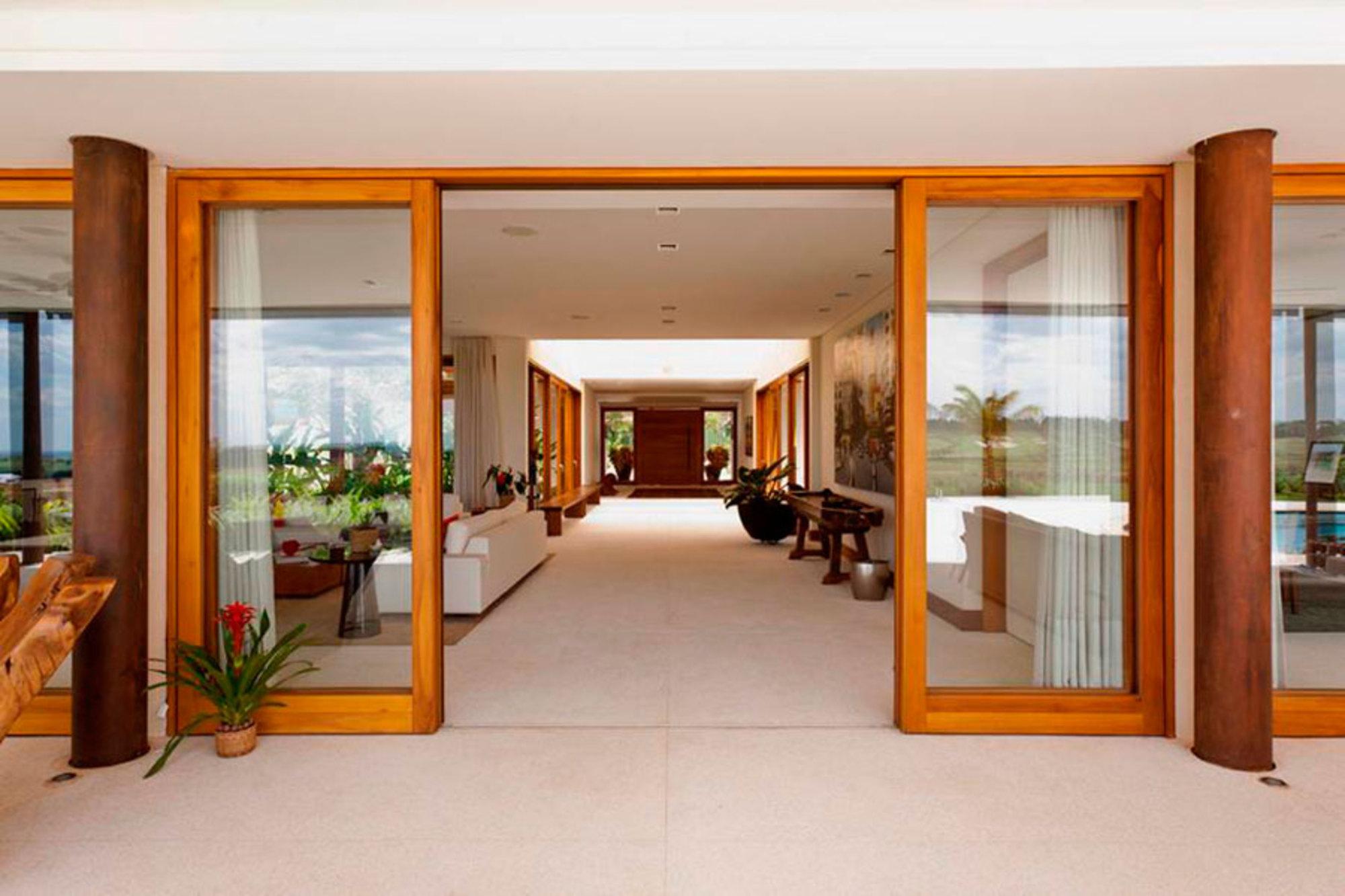 Equil brio entre moderno e r stico casa de valentina for Casa moderna rustica