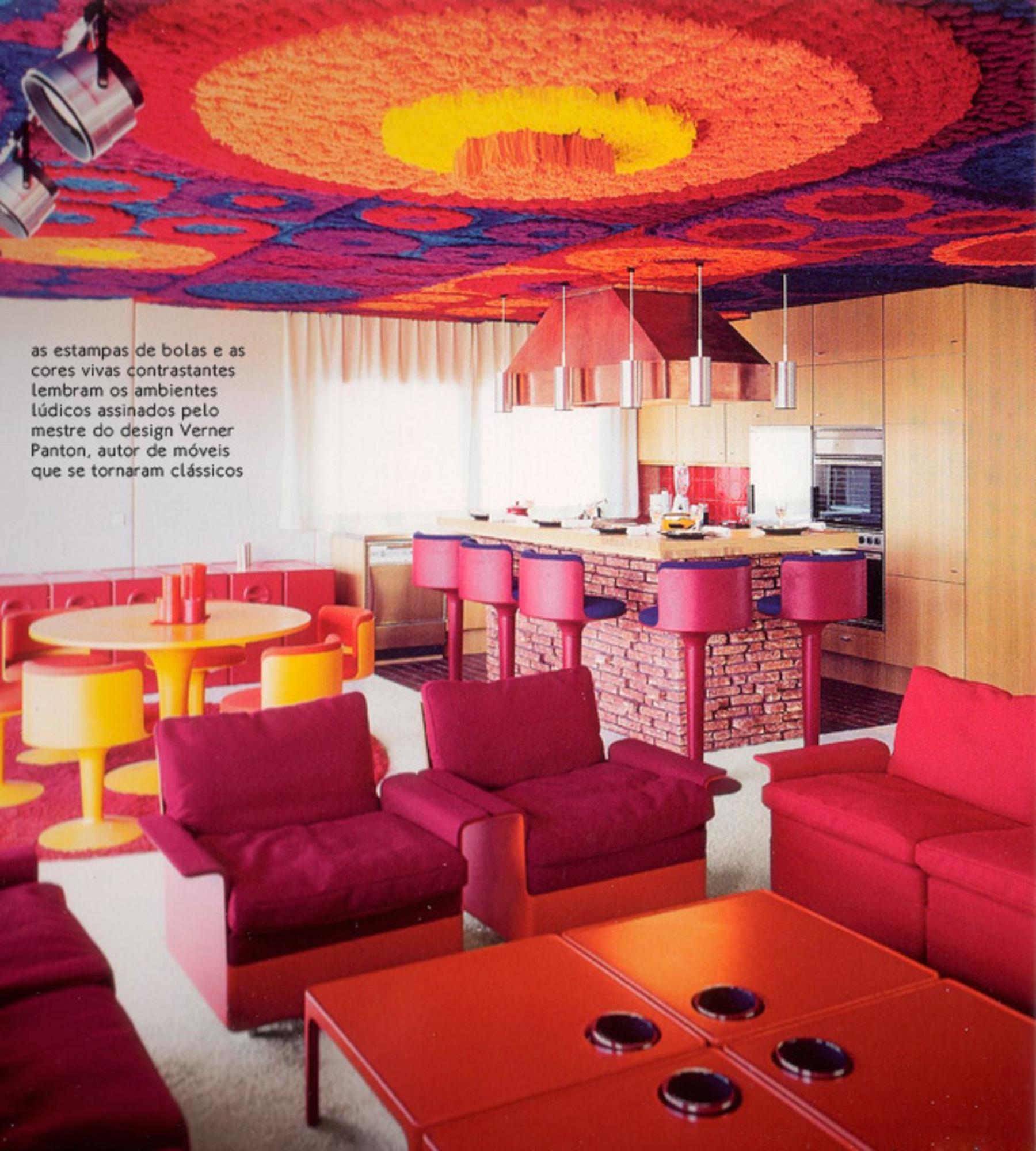 D cor psicod lico dos anos 60 casa de valentina for Diseno de interiores anos 70