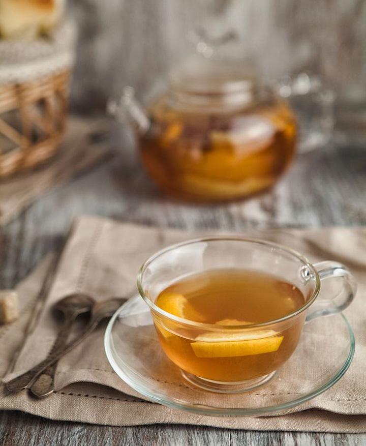 Chá da tarde, jogo de chá de vidro