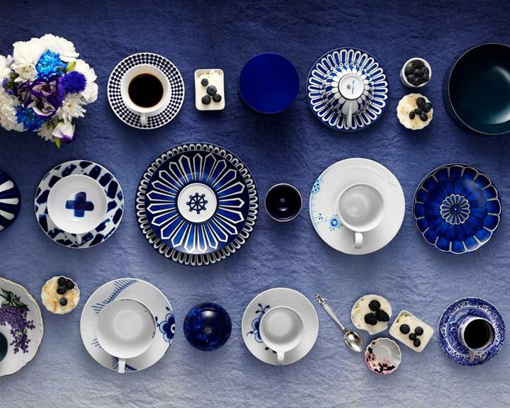 CHá da tarde, Jogo de chá azul e branco