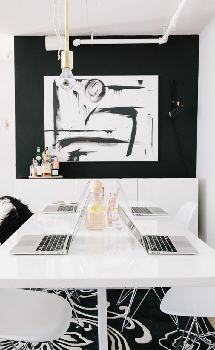 Decoração de escritório, home office