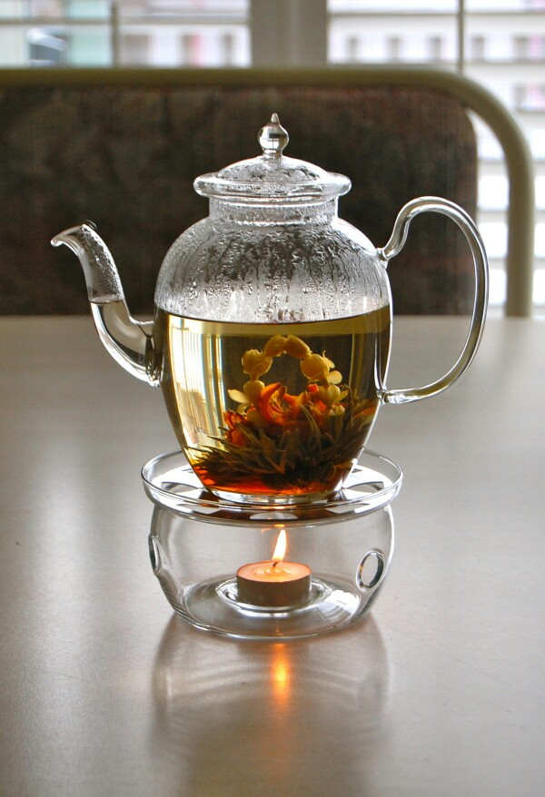 Chá da tarde, chá gourmet, infusor