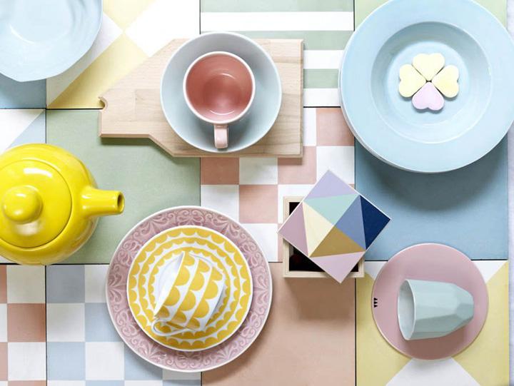 Chá da tarde, jogo de chá pastel