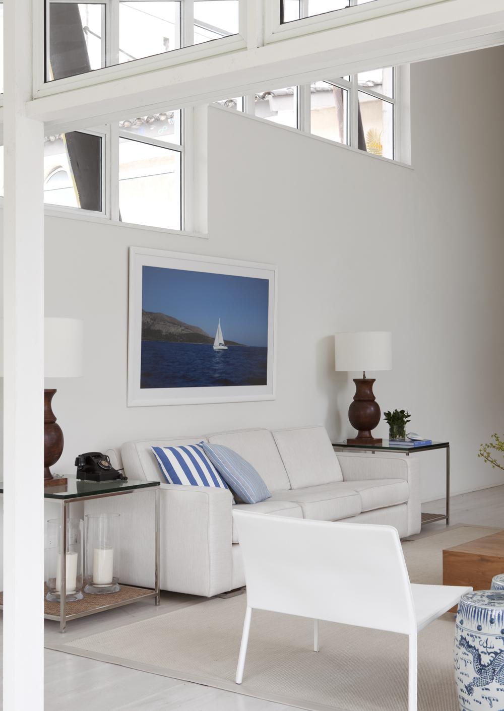 Decoração de: Sala de estar - sofá; quadro