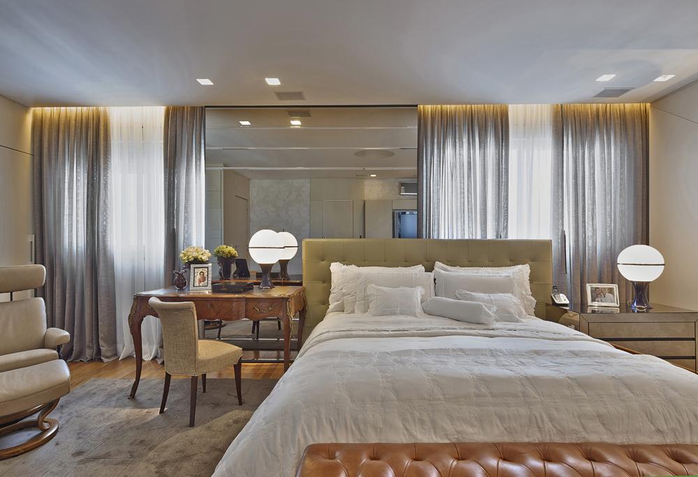 Decoração de: Quarto de casal - cama de casal; Casa de Valentina
