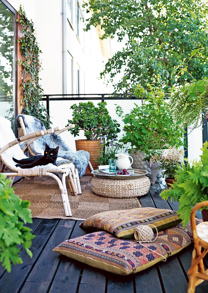 Decoração de: Varanda  - vasos de plantas; Casa de Valentina
