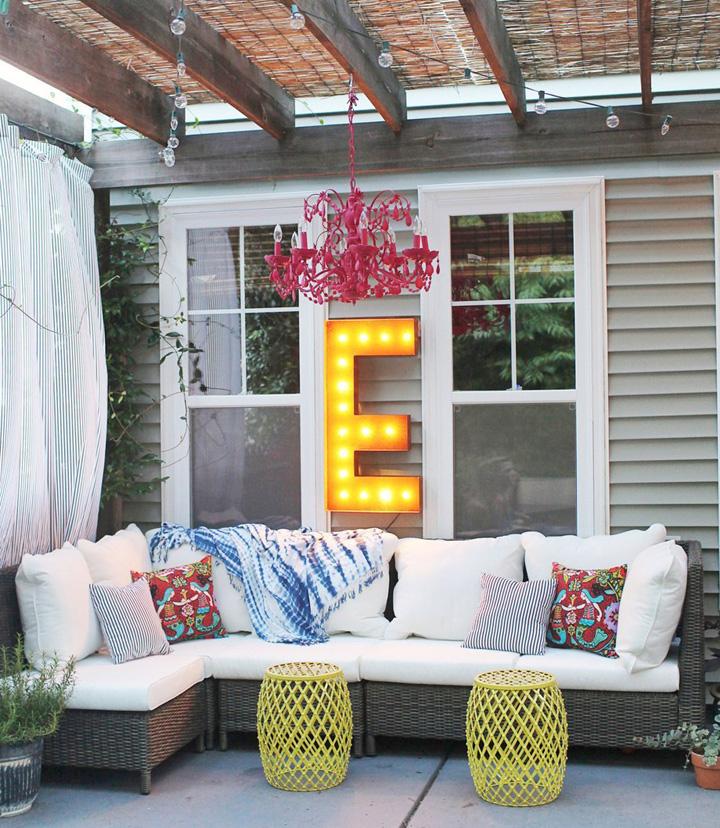 Decoração de: Varanda  - garden seat amarelo; Casa de Valentina
