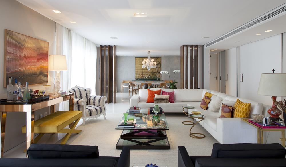 sala de estar; sofá branco; Casa de Valentina