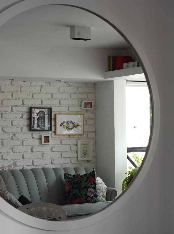 Decoração de detalhes; Espelho redondo; Casa de Valentina