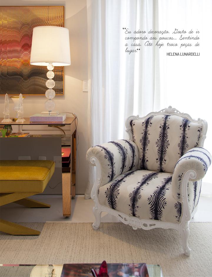 sala de estar; aparador amarelo; Casa de Valentina