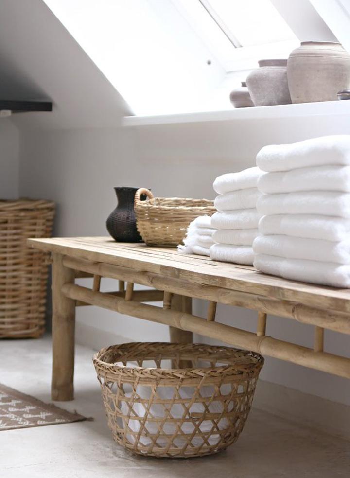 Decoração de: Detalhes  - banco retangular de bambú; Casa de Valentina