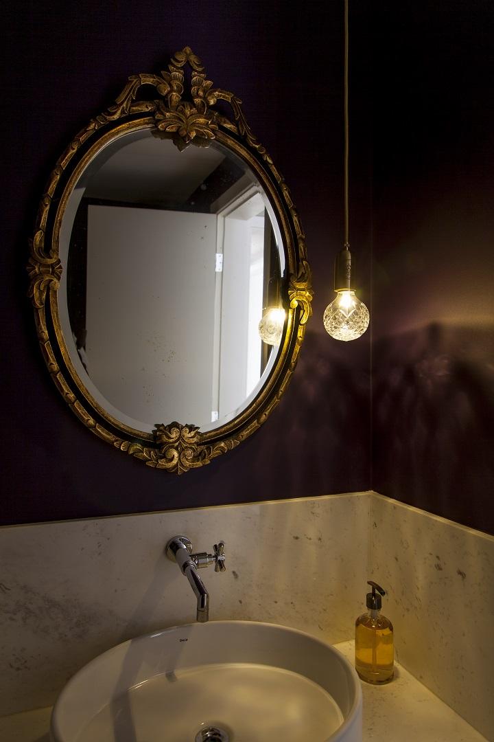 Decoração de: Lavabo; luminária pendente; Casa de Valentina