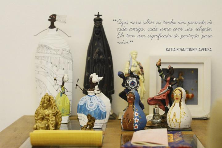 Decoração de: Detalhes; altar; Casa de Valentina
