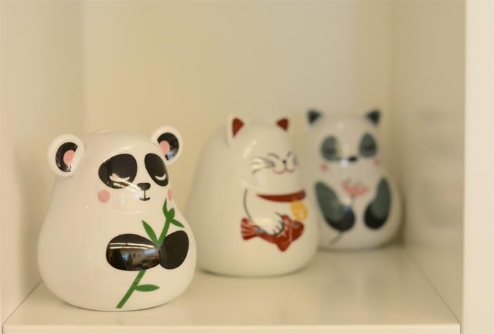 Decoração de: Detalhes; ursinhos de porcelana; Casa de Valentina