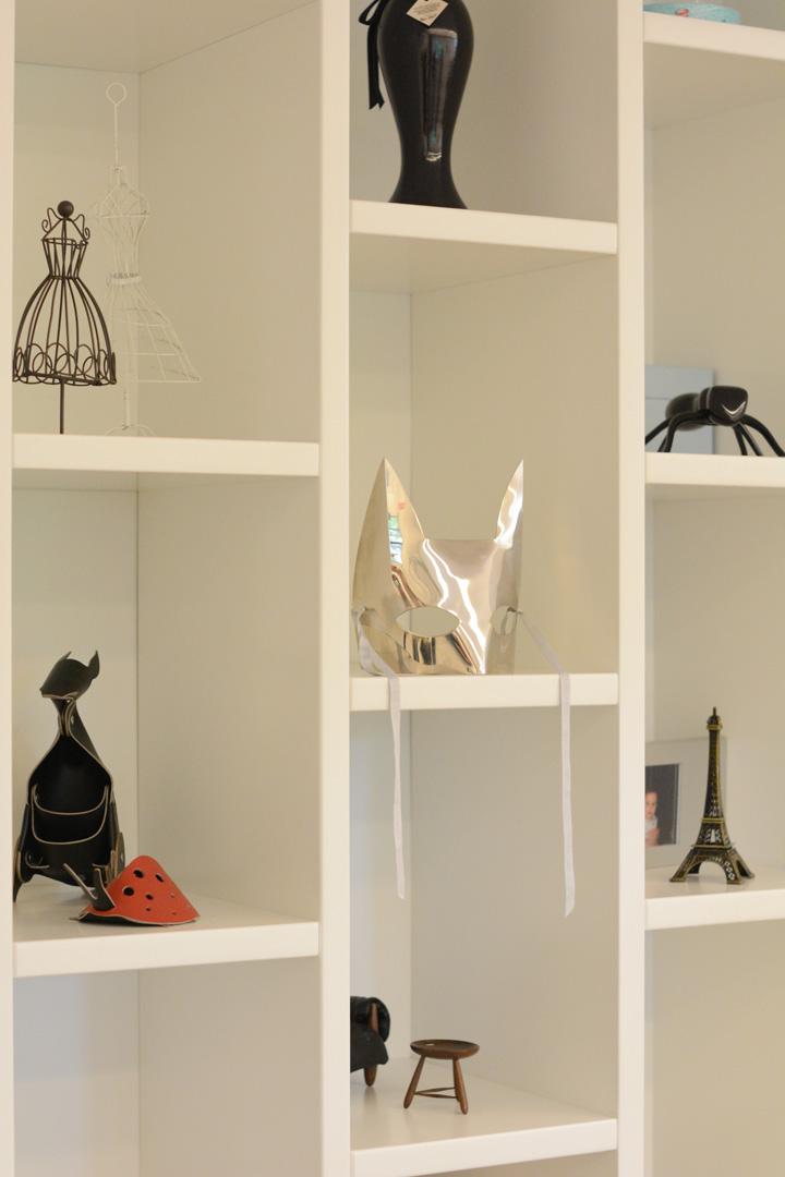 Decoração de: Detalhes; máscara de gato; Casa de Valentina