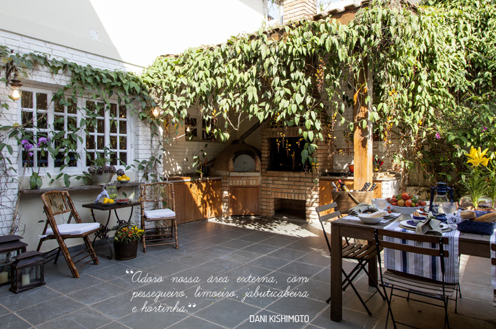 Decoração de: Varanda; trepadeiras; Casa de Valentina