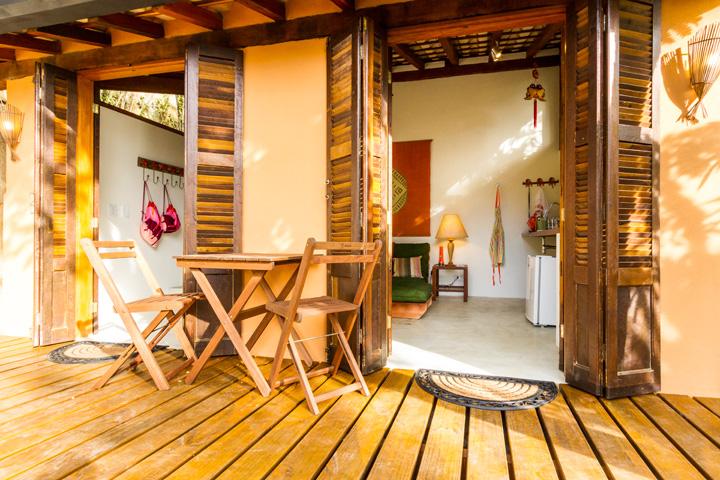 Decoração de: Varanda; deck de madeira; Casa de Valentina