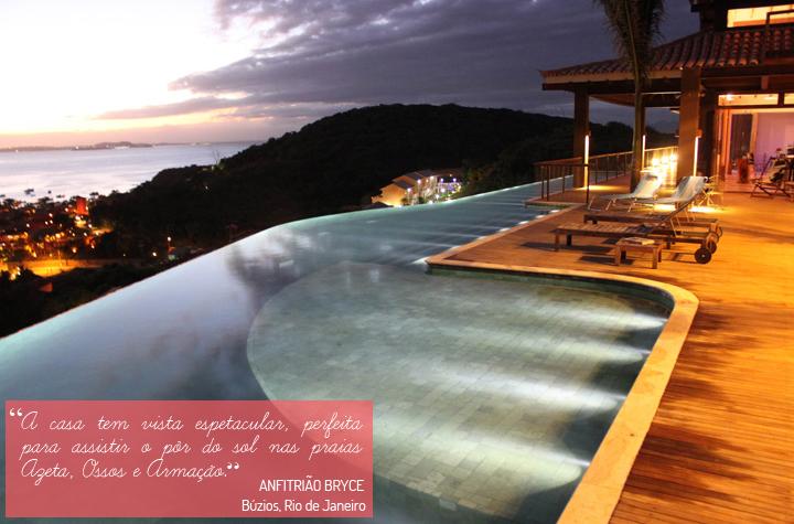 Decoração de: Varanda; piscina infinita; Casa de Valentina