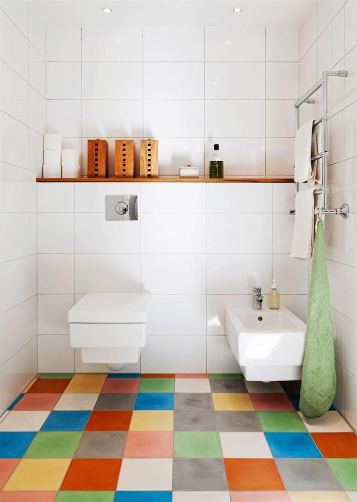 Decoração de: Detalhes; azulejos coloridos; Casa de Valentina