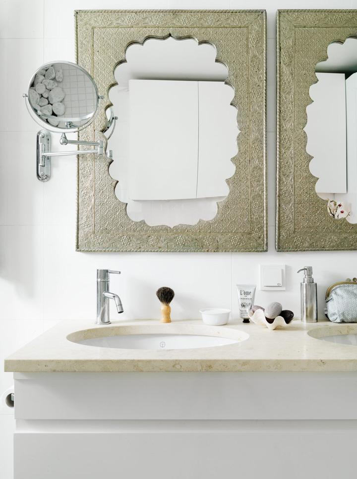 Decoração de: Detalhes; espelho étnico; Casa de Valentina