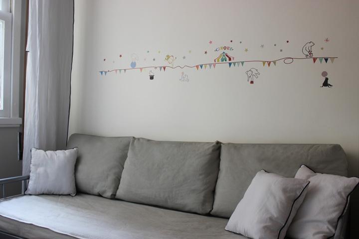 Decoração de: Detalhes; adesivo de parede; Casa de Valentina