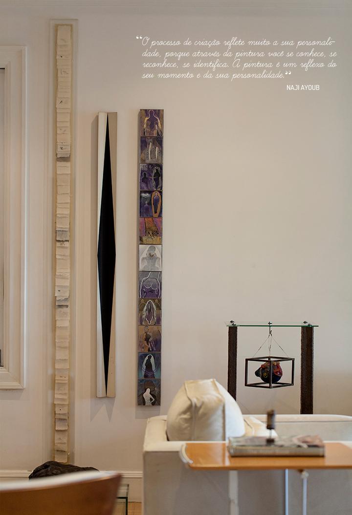 Decoração de: Detalhes; obras de arte contemporâneas; Casa de Valentina