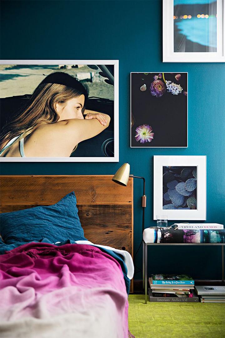 Decoração de: Quarto de casal; fotografia; Casa de Valentina