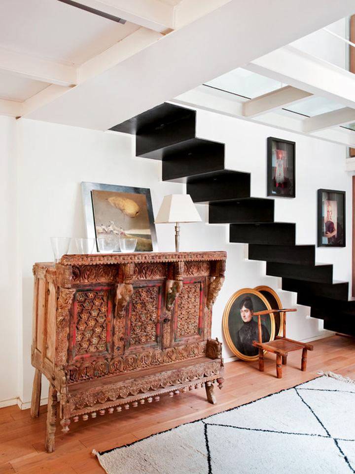 Decoração de: Detalhes; aparador de madeira antigo; Casa de Valentina