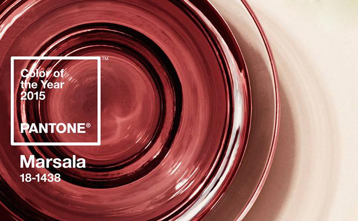 Decoração de: cor do ano Pantone 2015