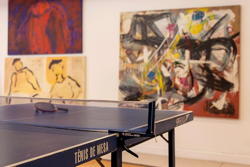 Decoração de: Detalhes; mesa de ping-pong; Casa de Valentina