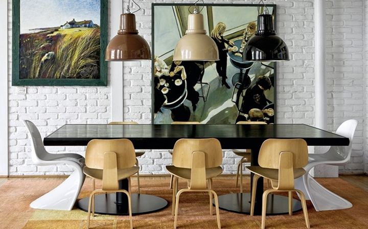 Decoração de: Sala de jantar; cadeira phanton branca;  Casa de Valentina