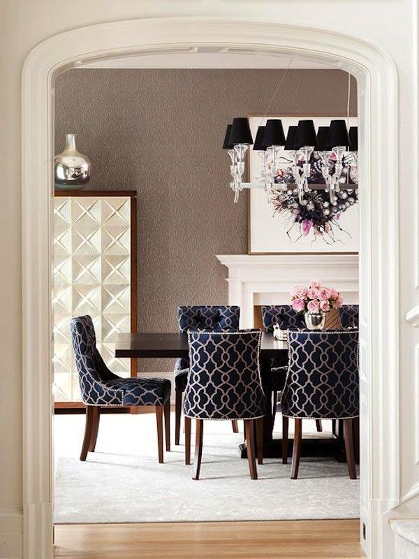 Cadeiras Para Sala De Jantar Em Bh ~ Decoração de Sala de jantar; cadeiras estampadas; Casa de Valentina