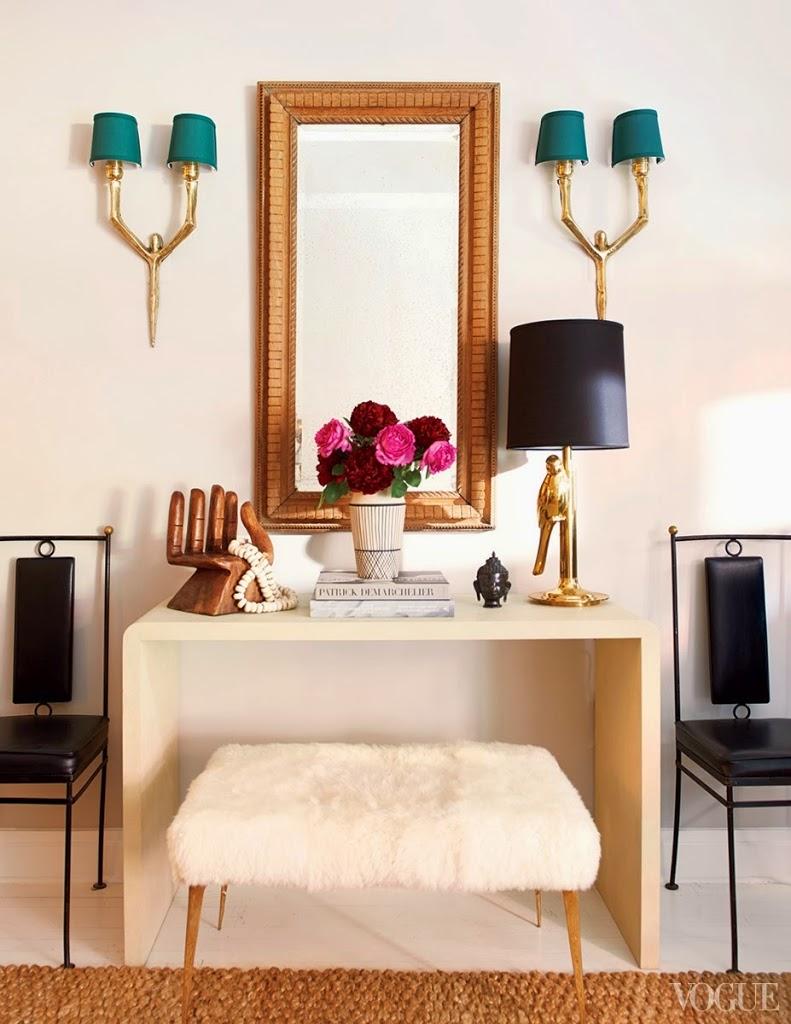 Decoração de: Detalhes; espelho de madeira; Casa de Valentina