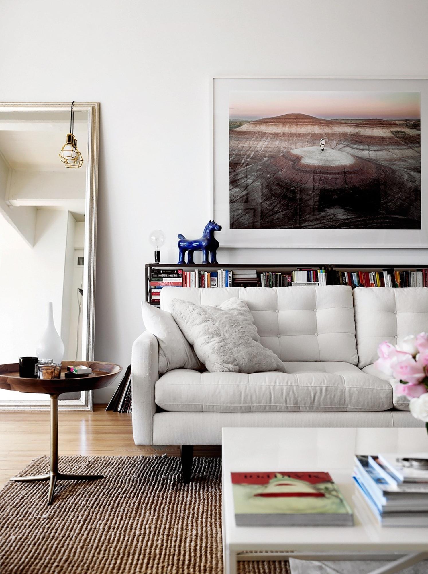 Decoração de: Sala de estar; cavalos de porcelana azul; Casa de Valentina