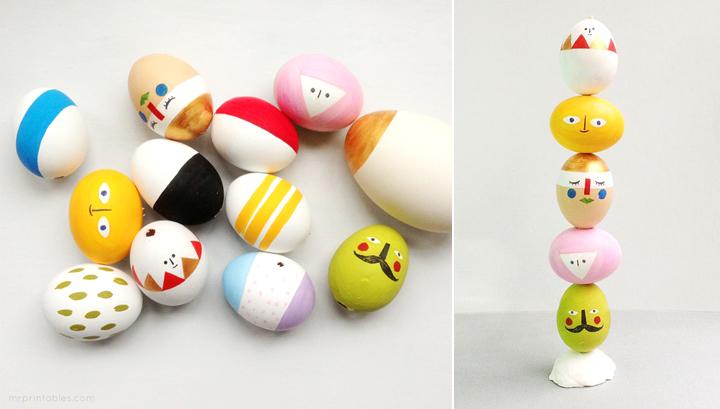 Decoração de: ovos pintados;  Casa de Valentina