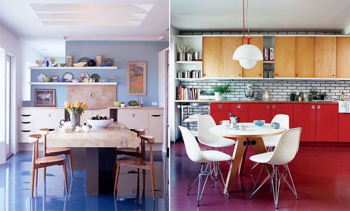 Decoração de: piso epoxi colorido; Casa de Valentina