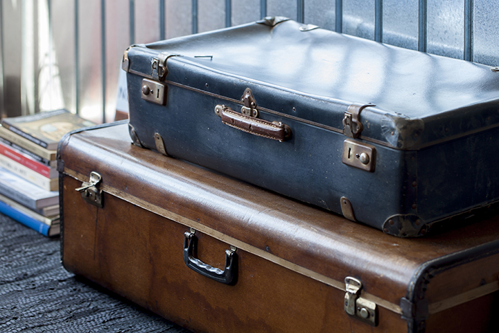 Decoração de: Detalhes; malas vintage; Casa de Valentina