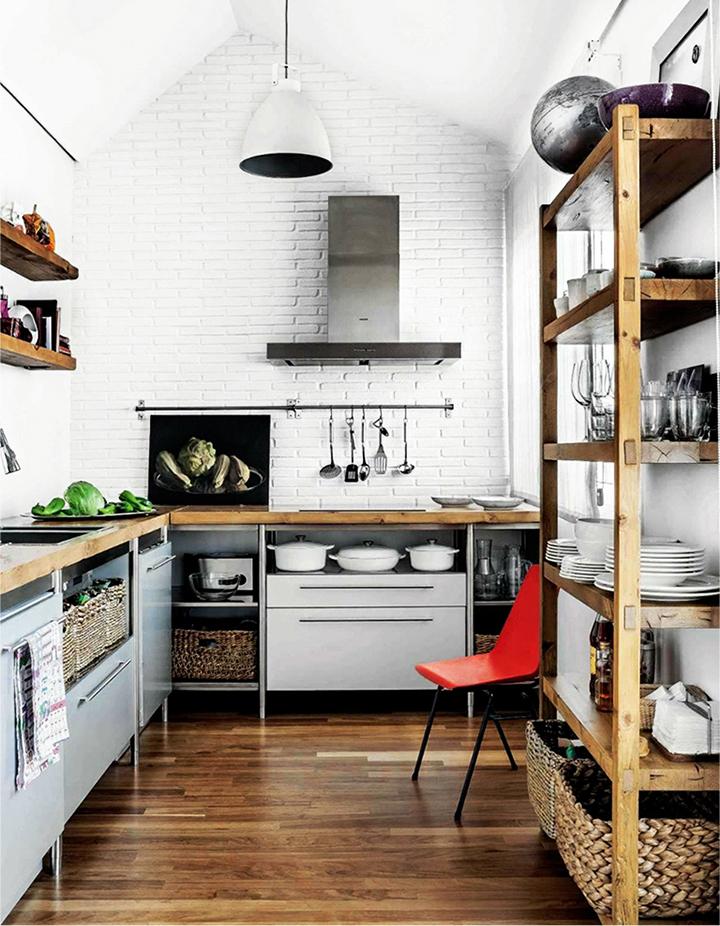 Decoração de: Cozinha; industrial;  Casa de Valentina