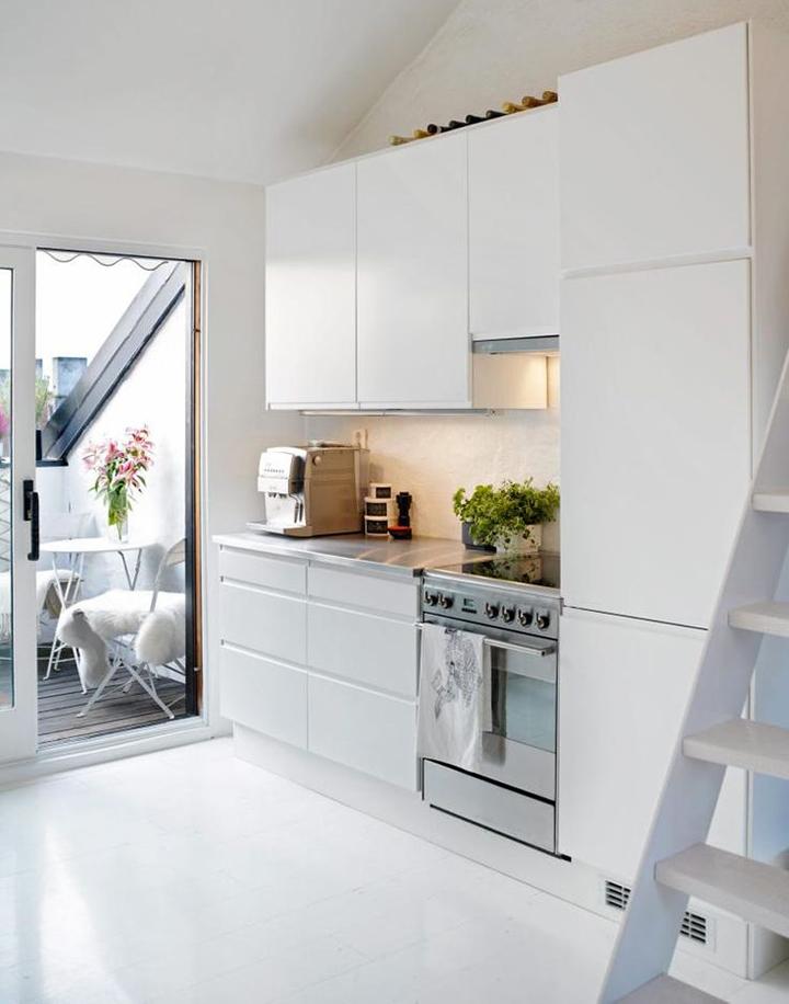 Decoração de: Cozinha integrada cozinha branca; Casa de Valentina