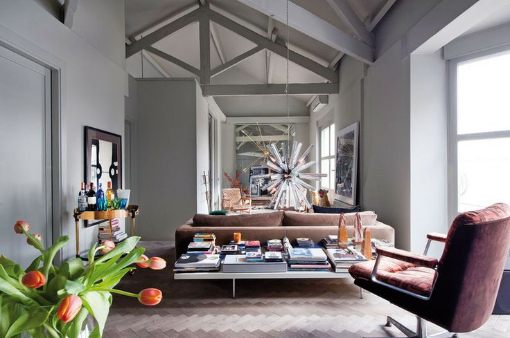Decoração de: Sala de estar; parede cinza; Casa de Valentina