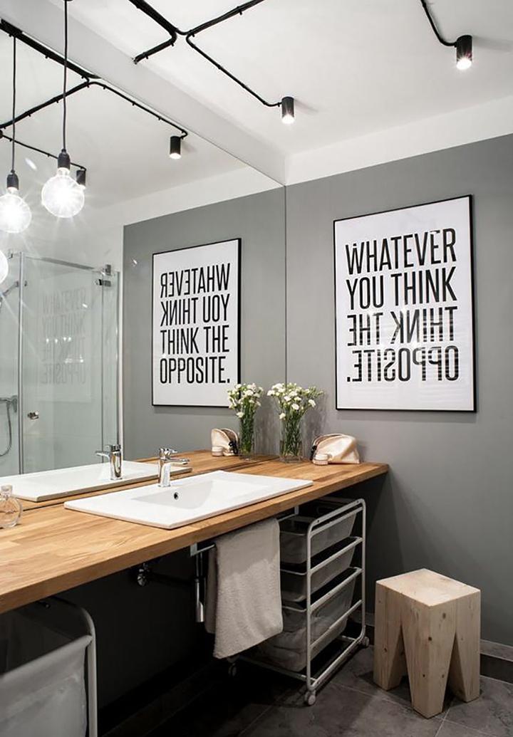 Decoração de: Lavabo; parede espelhada; Casa de Valentina