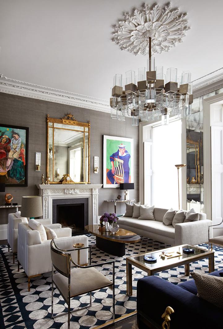 Decoração de: Sala de estar; estilo clássico; Casa de Valentina