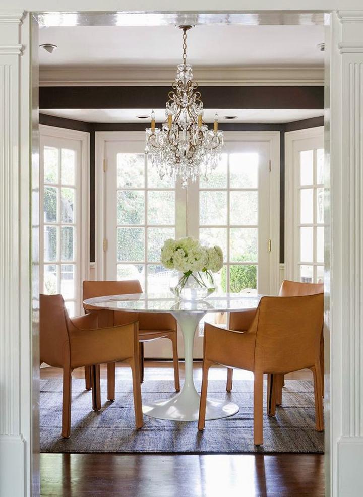 Decoração de: Sala de jantar; pendente de cristal; Casa de Valentina