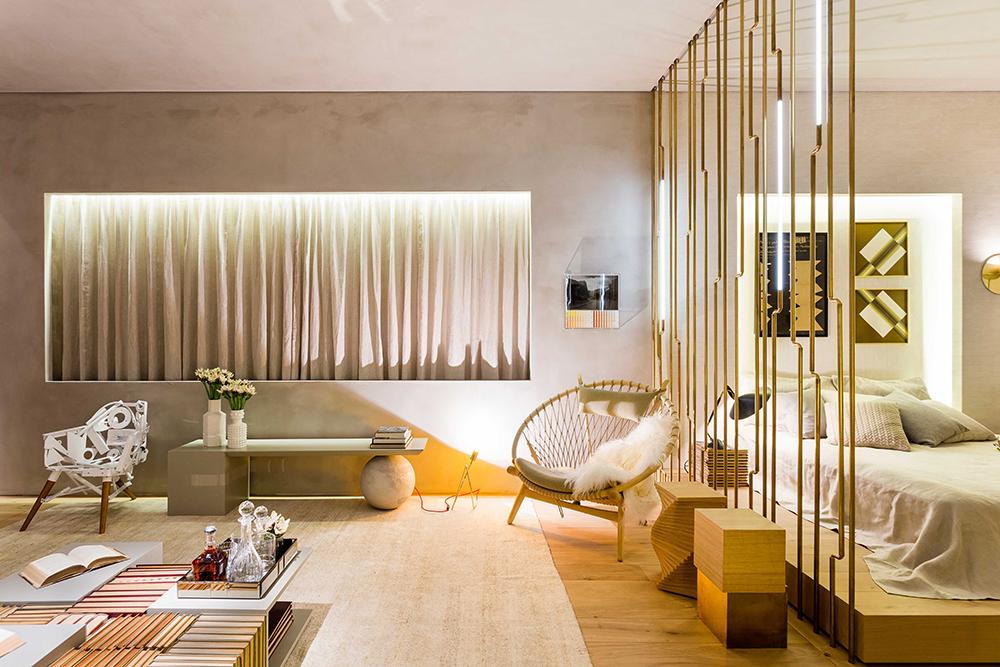 Decoração de: Detalhes; cortinas beges; Casa de Valentina