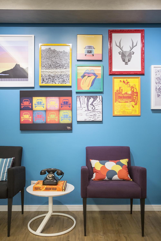 Decoração de: Detalhes; parede galeria; Casa de Valentina